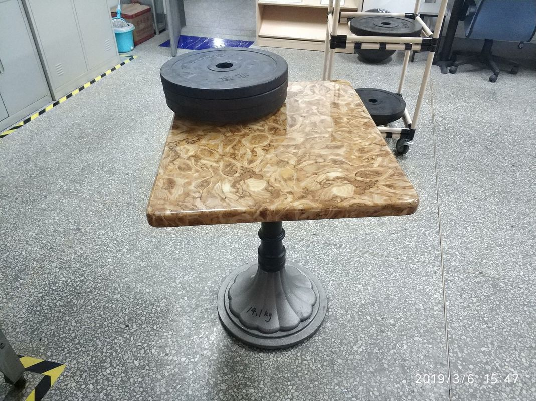 Round Column Vintage Cast Iron Table Legs Powder Coating Tulip Table Base